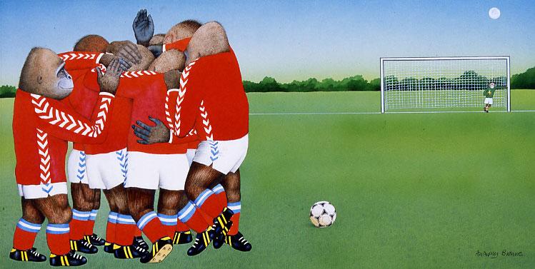 安东尼·布朗(Anthony Browne)《威利不会踢足球》摘自《威利成了冠军》(Willy the Champ)1985年