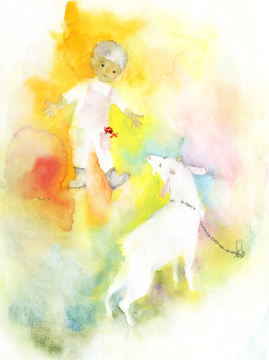 Chihiro Iwasaki, Boy and a Goat, 1969