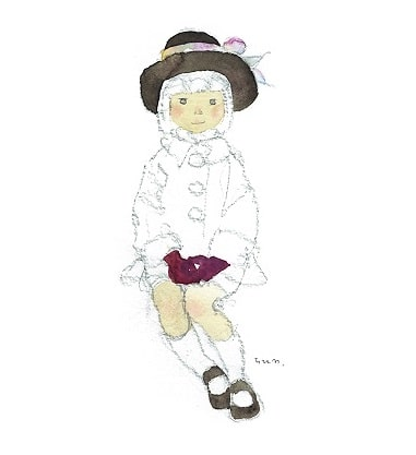 Chihiro Iwasaki, Girl Wearing a Brown Hat, early 1970s