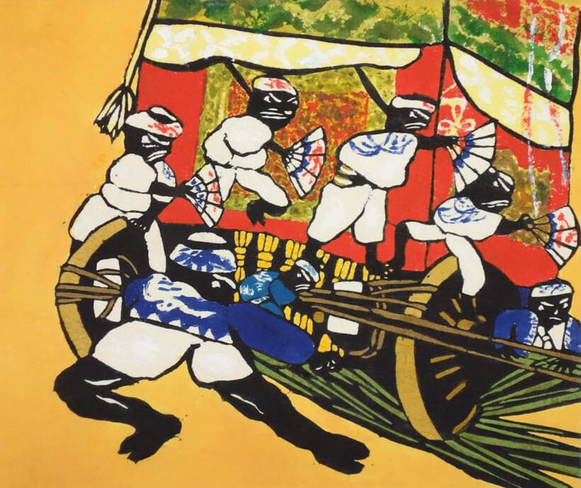 다시마 세이조 「기온(祇園)축제」 1966년