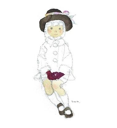 岩崎知弘 戴著黑褐色帽子的少女 1970年代前半期