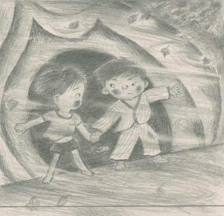 田畑精一 『衣櫥裡的探險』(童心社)封面 1974年