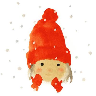 絵本『雪の日の誕生日』より