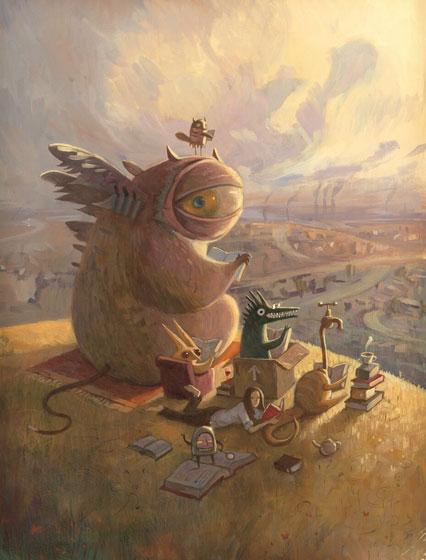 ショーンタン 「火曜午後の読書会」『遠い町から来た話』より 2004年