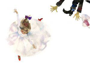 道で踊るカーレン